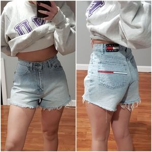 Vintage Tommy Hilfiger High Waisted Denim Shorts